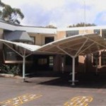 Four Post Double Curve Structural Eight Bay Carpark Shade