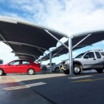 Double Dark Cloth Cantilever (butterfly) Carpark Shade Solution