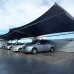 Eight Bay Carpark Cantilever Shade Structure