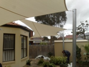 Patio Walkway Tensioned Sails