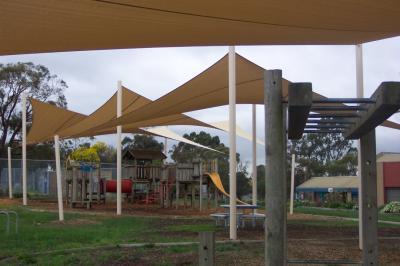 Hyperbolic Beige Playground Shade Sails