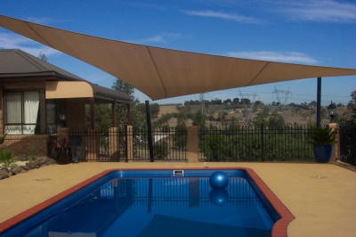 Solving a hot swimming pool problem – 1800 Shade U - Shade Sails ...