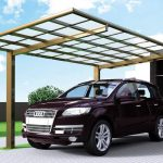 Angle-Roof Cantilever Carport