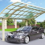 Arched Curved Single Cantilever Carport