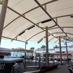 Large Complex Curved Barrel Vault Cafe Shade Structure