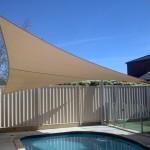 Inground Pool Hyperbolic Four Post Sail