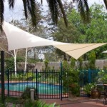 Shade Sail in Pool Area