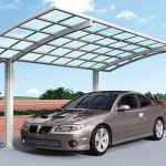 Curved Single Cantilever Carport
