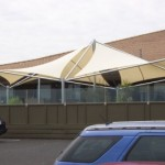 Space Frame Tension Patio Structure