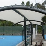 Tennis Court Curved Roof Shade Structure
