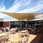 Cafe Seating Area Twin Waterproof Shade Sails